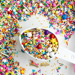 Mini Bottle: Gourmet Sprinkles, Over the Rainbow Twinkle Sprinkle Medley