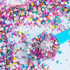 Mini Bottle Gourmet Sprinkles, Birthday Party Sprinkle Medley