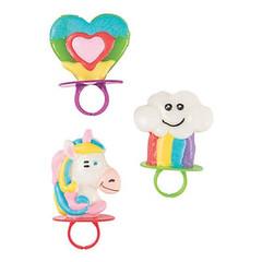 Unicorn & Rainbow Ring Pops
