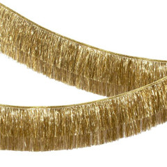 Tinsel Fringe Garland, Gold