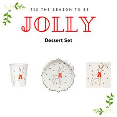 Reindeer & Stars Dessert Set