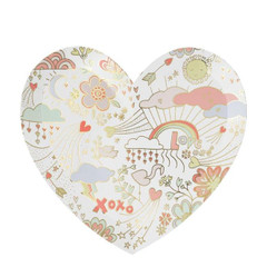 Valentine Doodle Plates, Large