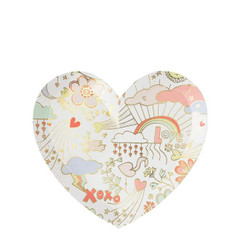 Valentine Doodle Plates, Small