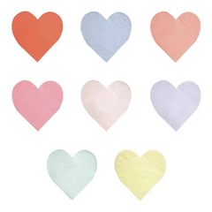 Heart Party Palette Napkins, Small