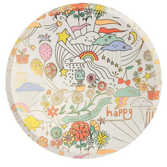 Happy Doodle Plates, Large