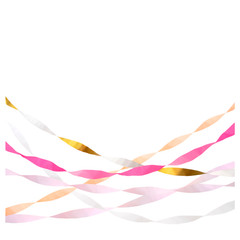 Crepe Paper Streamers, Pink