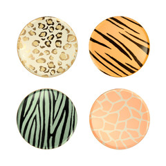 Safari Animal Print Plates, Small