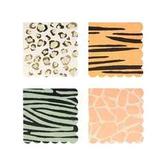 Safari Animal Print Napkin, Small
