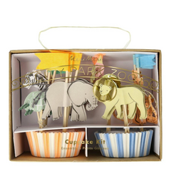 Safari Animal Cupcake Kit