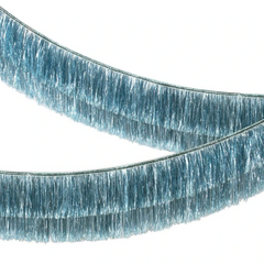 Tinsel Fringe Garland, Blue