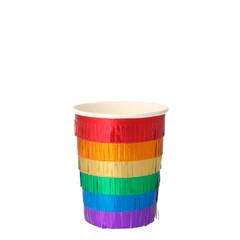 Rainbow Fringe Beverage Cups