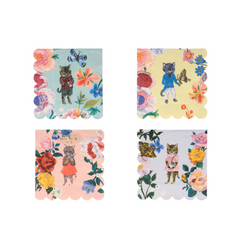 Nathalie Lete Flora  Cat Napkins, Small
