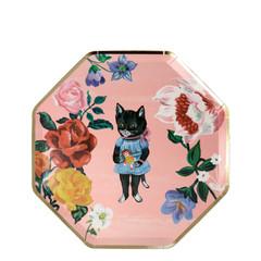Nathalie Lete Flora  Cat Side Plates