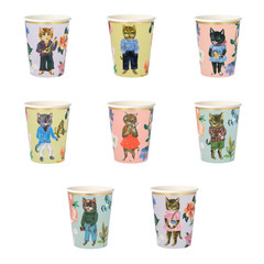 Nathalie Lete Flora Cat Beverage Cups