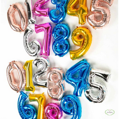 Foil Number Balloons w/ Helium, 34""