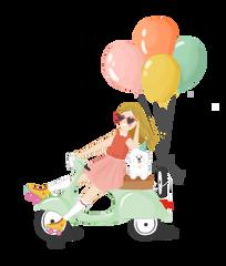 Helium Balloon Delivery