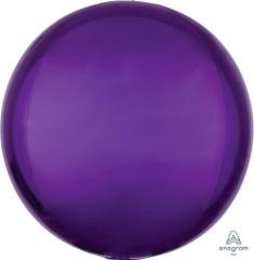 """Orbz, Purple Foil Balloon, 16"""""""