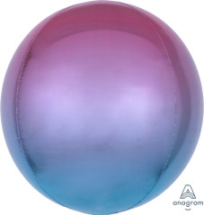 Orbz, Purple & Blue Ombre Foil Balloon, 16""