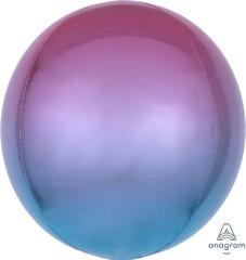 "Orbz, Purple & Blue Ombre Foil Balloon, 16"""