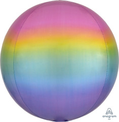 Orbz, Jewel-Tone Rainbow Ombre Foil Balloon, 16""