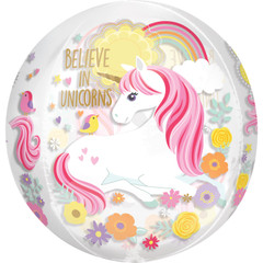 Magical Unicorn Orbz Balloon, 16""