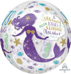 "Mermaid Wishes Orbz Balloon, 16"""