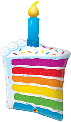 Rainbow Slice of Cake, Giant Balloon, 42""