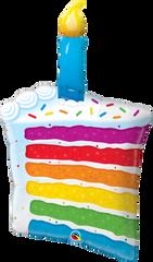 "Rainbow Slice of Cake, Giant Balloon, 42"""