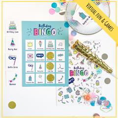 Birthday games: Birthday Bingo