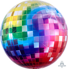 Orbz, Rainbow Disco Ball Foil Balloon, 16""