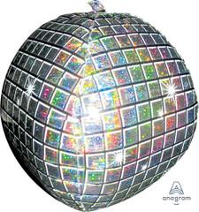 """Orbz, Holographic Disco Ball Foil Balloon, 16"""""""