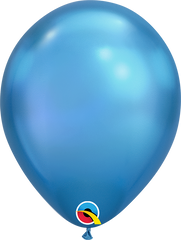 Chrome Balloons, Blue, 11""