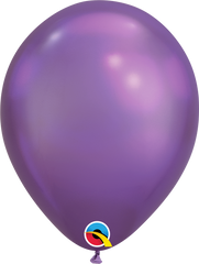 Chrome Balloons, Purple, 11""