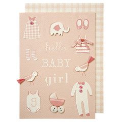 Greeting Card: Pink Baby Girl