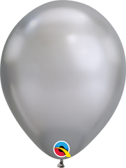 """Chrome Balloons, Silver, 11"""""""