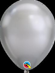 """Chrome Balloons, Silver, 7"""""""