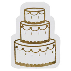 Wedding Cake Cocktail Napkin