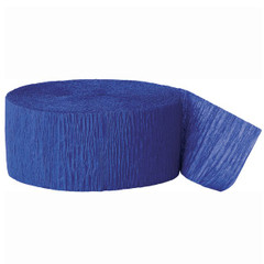 Crepe Streamers, Royal Blue