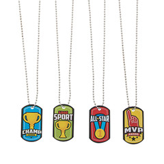 Sports Icon Dog Tags