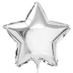 Silver Star Balloon, 17""