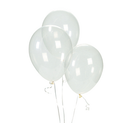 """Clear Balloons, 11"""""""