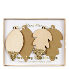 Glittered Leaf Place Tag / Napkin Rings
