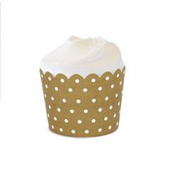 Gold Crush Polka Dot Baking Cups