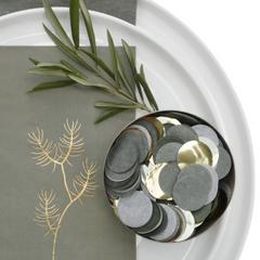 Luxe Confetti, Olive w/ Gold