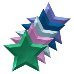 Colorful Metallic Star Plates