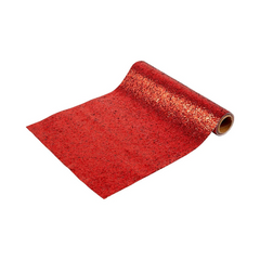 Luxe Red Glitter Table Runner