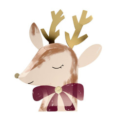 Reindeer with Bow Plates, Large
