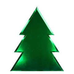 Metallic Christmas Tree Plates
