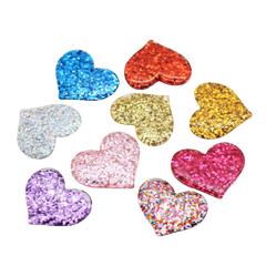 Glitter Heart, Resin Charms