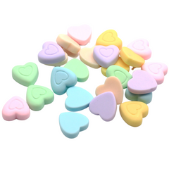 Pastel Resin Heart Charms